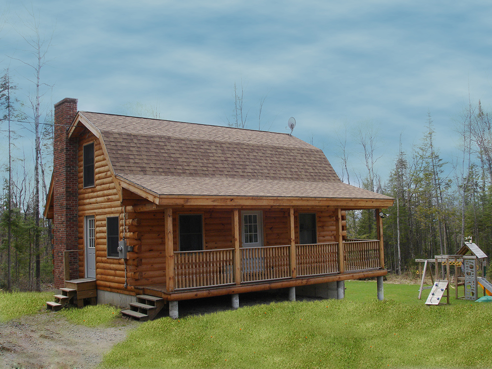 Briarwood log cabin shell for 36 000 looks fantastic Log cabin style home plans